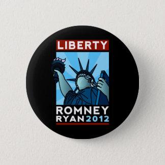 Bóton Redondo 5.08cm Liberdade de Romney Ryan