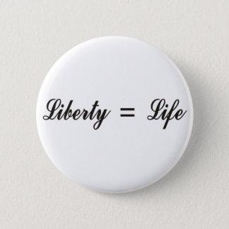 Bóton Redondo 5.08cm Liberdade = vida