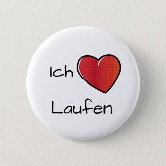 Bóton Redondo 5.08cm Liebe Laufen de Ich - corredor do amor de I