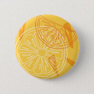 Bóton Redondo 5.08cm Limões amarelos brilhantes teste padrão tirado do
