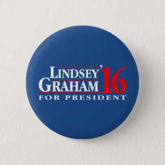 Bóton Redondo 5.08cm Lindsey Graham para o presidente