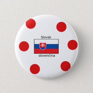 Bóton Redondo 5.08cm Língua e design eslovacos da bandeira de Slovakia