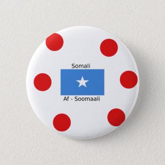 Bóton Redondo 5.08cm Língua e design somalianos da bandeira de Somália