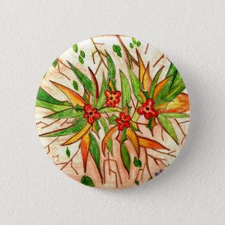 Bóton Redondo 5.08cm Linha de Produtos Flores Tropicais