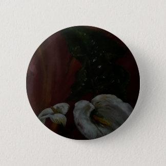 Bóton Redondo 5.08cm Lírios de Arum 1
