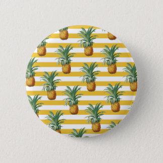 Bóton Redondo 5.08cm listras amarelas dos pinepples