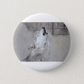 Bóton Redondo 5.08cm Lobo cinzento do urro