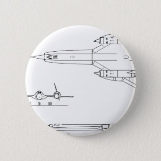 Bóton Redondo 5.08cm Lockheed_YF-12A_3view
