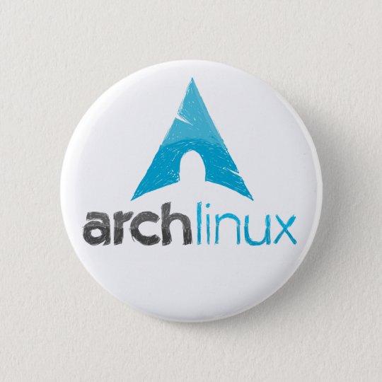Bóton Redondo 5.08cm Logotipo de Linux do arco