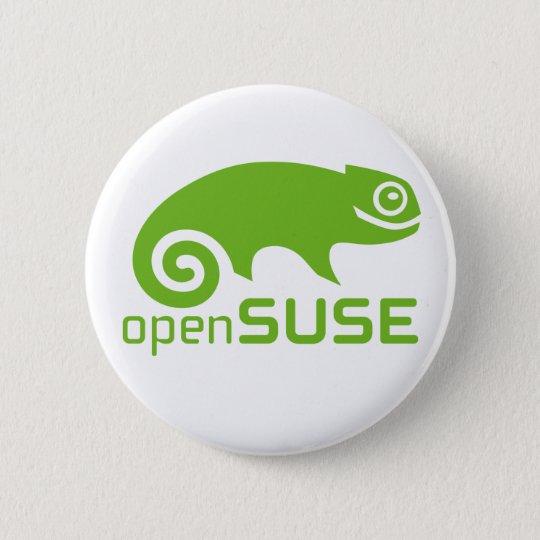 Bóton Redondo 5.08cm logotipo de Linux do openSuzie
