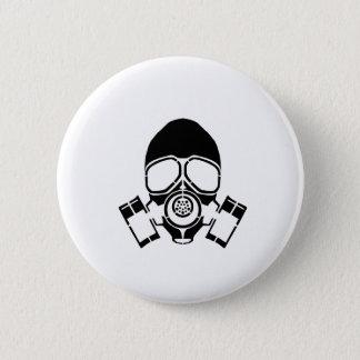 Bóton Redondo 5.08cm logotipo do estêncil da máscara de gás