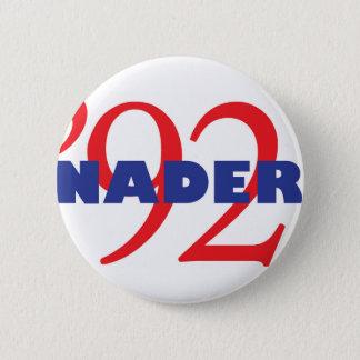 Bóton Redondo 5.08cm Logotipo Ralph Nader 1992 da campanha do vintage
