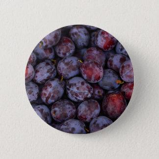 Bóton Redondo 5.08cm Lotes de ameixas roxas frescas