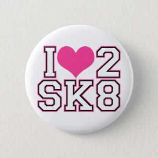 Bóton Redondo 5.08cm Love2SK8 - Preto & rosa