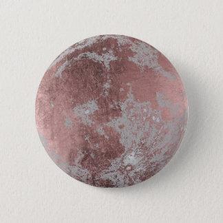 Bóton Redondo 5.08cm Lua cheia cor-de-rosa do ouro moderna