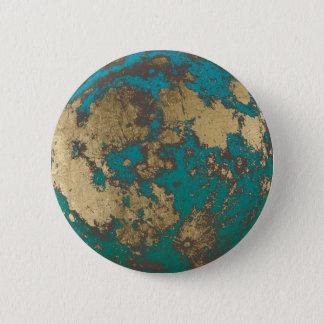 Bóton Redondo 5.08cm Lua cheia moderna do ouro da lua oxidada