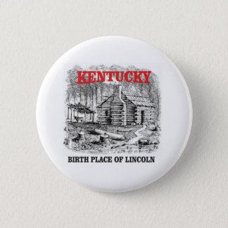 Bóton Redondo 5.08cm Lugar de nascimento de Kentucky Lincolns