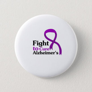 Bóton Redondo 5.08cm Luta roxa da fita da doença de Alzheimers