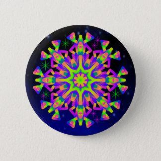 Bóton Redondo 5.08cm Luz do botão do caleidoscópio de WQ - rosa