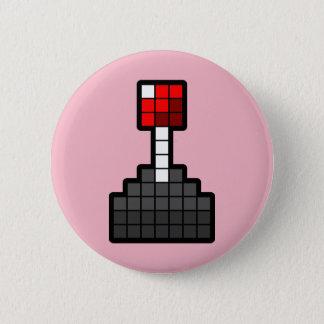 Bóton Redondo 5.08cm Luz do manche do pixel - rosa