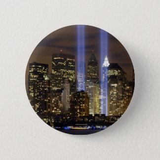 Bóton Redondo 5.08cm Luzes do tributo da Nova Iorque