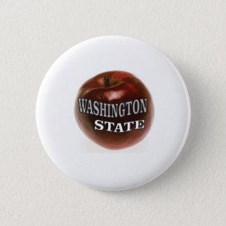 Bóton Redondo 5.08cm Maçã do vermelho do estado de Washington