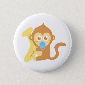 Bóton Redondo 5.08cm Macaco bonito do bebê dos desenhos animados com