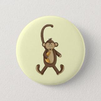 Bóton Redondo 5.08cm Macaco de cauda longa