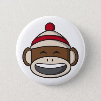 Bóton Redondo 5.08cm Macaco grande Emoji da peúga do sorriso