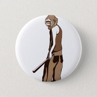 Bóton Redondo 5.08cm macaco humano com vara