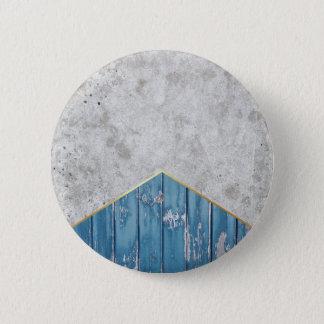 Bóton Redondo 5.08cm Madeira azul #347 da seta concreta