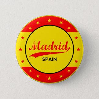 Bóton Redondo 5.08cm Madrid, Spain, circle, red