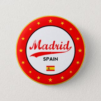 Bóton Redondo 5.08cm Madrid, Spain, circle, white