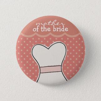 Bóton Redondo 5.08cm Mãe da noiva -- ROSA de //do vestido de casamento