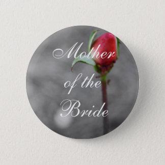 Bóton Redondo 5.08cm Mãe do Trinket do casamento do Rosebud da noiva