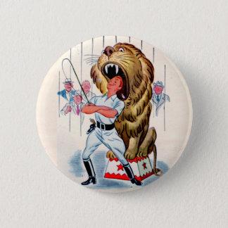 Bóton Redondo 5.08cm mais doméstico de leão dos anos 40 e leão