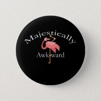 Bóton Redondo 5.08cm Majestosa inábil Introverts o flamingo cor-de-rosa