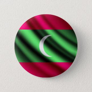 Bóton Redondo 5.08cm Maldives que acenam o botão do pinback da bandeira