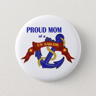 Bóton Redondo 5.08cm Mamã orgulhosa de um marinheiro dos E.U.