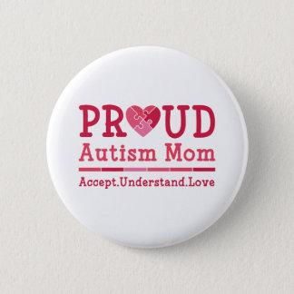 Bóton Redondo 5.08cm Mamã orgulhosa do autismo