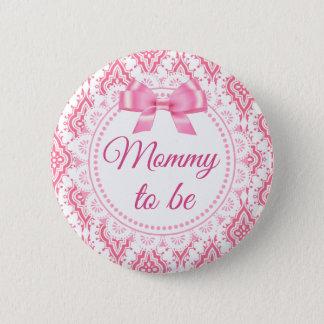 Bóton Redondo 5.08cm Mamães a ser botão Lacey do chá de fraldas do arco