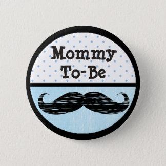 Bóton Redondo 5.08cm Mamães azuis do ponto & do bigode a ser botão do