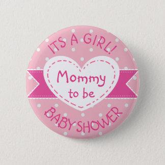 Bóton Redondo 5.08cm Mamães cor-de-rosa das bolinhas a ser suas um Pin