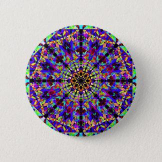 Bóton Redondo 5.08cm Mandala colorida de Mosaïc