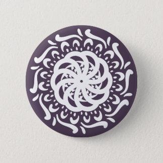 Bóton Redondo 5.08cm Mandala da ameixa