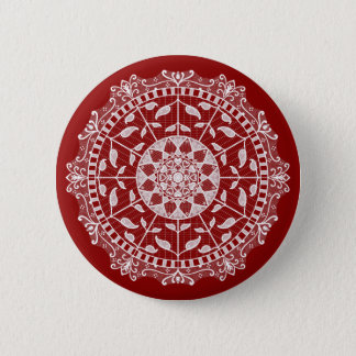 Bóton Redondo 5.08cm Mandala da framboesa