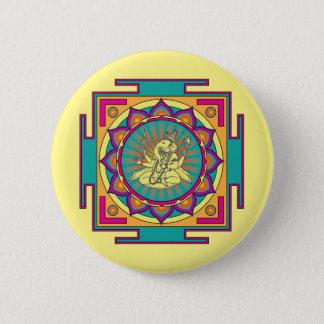 Bóton Redondo 5.08cm Mandala de Ganesha