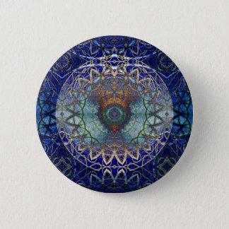 Bóton Redondo 5.08cm Mandala do botão da Web de Noedic
