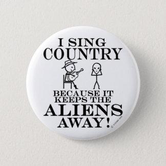 Bóton Redondo 5.08cm Mantem o país ausente dos aliens