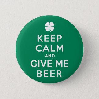 Bóton Redondo 5.08cm Mantenha a calma e dê-me a cerveja